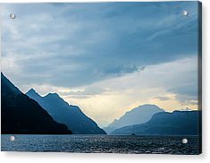 Storm Clouds On Lake Lucerne Acrylic Print