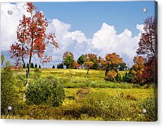 Acrylic Print featuring the photograph Storm Clouds Over Country Landscape by Christina Rollo