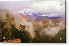 Storm In The Canyon Acrylic Print