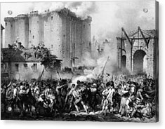 Storming The Bastille Acrylic Print by Hulton Archive