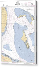 Straits Of Florids, Eastern Part Noaa Chart 4149 Edited. Acrylic Print