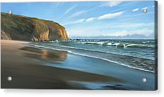Strands Beach Dana Point Oil Painting Acrylic Print