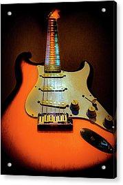 Stratocaster Triburst Glow Neck Series Acrylic Print