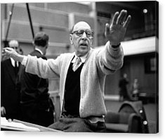Stravinsky Conducts Acrylic Print by Erich Auerbach