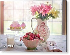 Acrylic Print featuring the photograph Strawberry Breakfast by Top Wallpapers