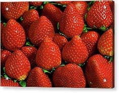 Strawberry Cliche Acrylic Print by By Ken Ilio