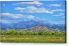Acrylic Print featuring the digital art Streaming Meadow Day by Joel Bruce Wallach