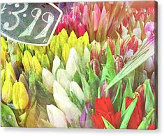 Street Bouquets Acrylic Print by JAMART Photography