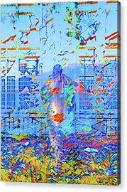 Street Performer Acrylic Print by Nicholas V K