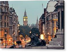 Street View Of Trafalgar Square At Acrylic Print