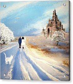 Stroll Through Winter Fantasy Land Acrylic Print