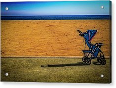 Stroller At The Beach Acrylic Print