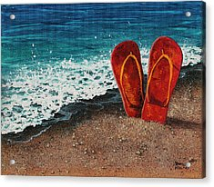 Acrylic Print featuring the painting Stuck In The Sand by Darice Machel McGuire