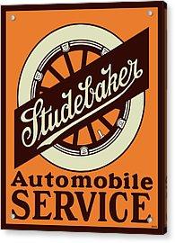 Studebaker Auto Sign Acrylic Print