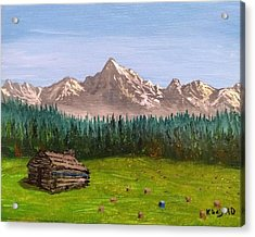 Acrylic Print featuring the painting Stump by Kevin Daly