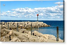 Acrylic Print featuring the photograph Sturgeon Point Marina On Lake Erie by Rose Santuci-Sofranko