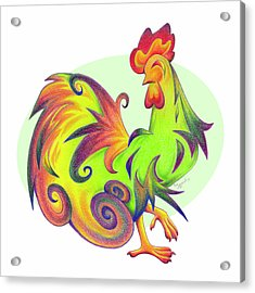 Stylized Rooster I Acrylic Print