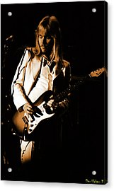 Acrylic Print featuring the photograph Styxspo77 #14 Enhanced In Amber by Ben Upham