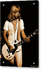 Acrylic Print featuring the photograph Styxspo77 #18 Enhanced In Amber by Ben Upham