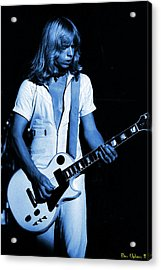 Acrylic Print featuring the photograph Styxspo77 #18 Enhanced In Blue by Ben Upham