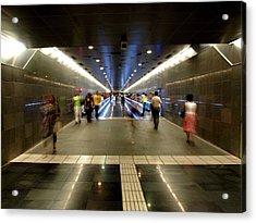 Subway Ghosts  Acrylic Print
