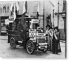 Suffragettes Campaign Acrylic Print by Topical Press Agency