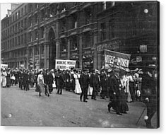 Suffragettes Acrylic Print by F. J. Mortimer