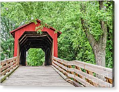 Sugar Creek Covered Bridge Acrylic Print