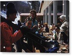Sugarbush Skiers Acrylic Print by Slim Aarons