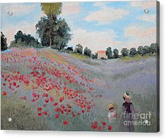 Summer Landscape Oil Painting Acrylic Print