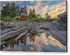 Summer Morning At Pemaquid Point Lighthouse Acrylic Print