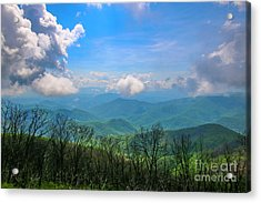 Summer Mountain View Acrylic Print