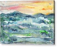 Summer Sunset Acrylic Print