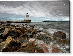 Summer Tides At Bug Light Acrylic Print