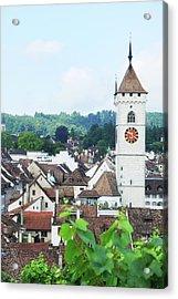 Summer View Of Schaffhausen Acrylic Print by Oks mit