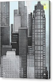 Sun And Skyscrapers Acrylic Print