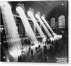 Sun Beams Into Grand Central Station Acrylic Print