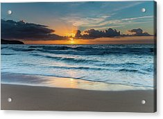 Sun Glow Seascape Acrylic Print