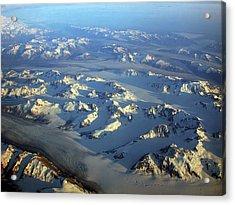 Sun Kissed Glaciers Acrylic Print