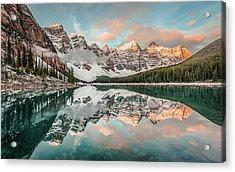 Sun-kissed Peaks Acrylic Print