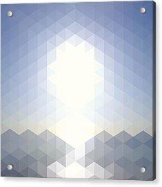 Sun Over The Sea - Abstract Geometric Acrylic Print by Bgblue