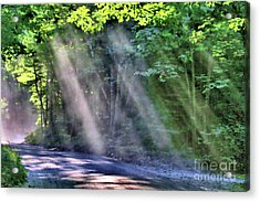 Acrylic Print featuring the photograph Sun Streaks by Debbie Stahre