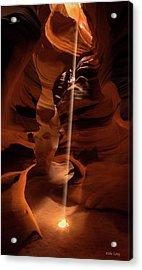 Sunbeam In Upper Antelope Canyon Acrylic Print
