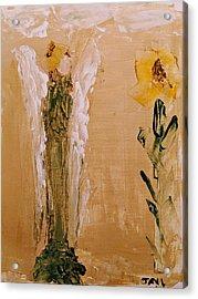 Sunflower Angel Acrylic Print