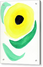 Acrylic Print featuring the painting Sunflower by Bee-Bee Deigner