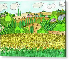Sunflower French Countryside Acrylic Print