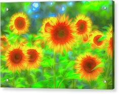 Sunflower Pastel Art Acrylic Print