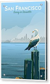 Sunny In Sausalito Acrylic Print