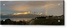 Acrylic Print featuring the photograph Sunrise Across Beagle Channel, Patagonia by Mark Duehmig