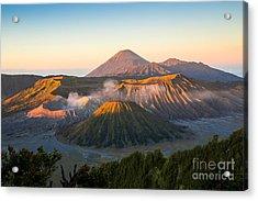 Sunrise At Mount Bromo Volcano, The Acrylic Print